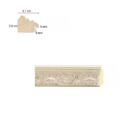 Cadre sur mesure en aluminium ambre ou cuivre profil 15