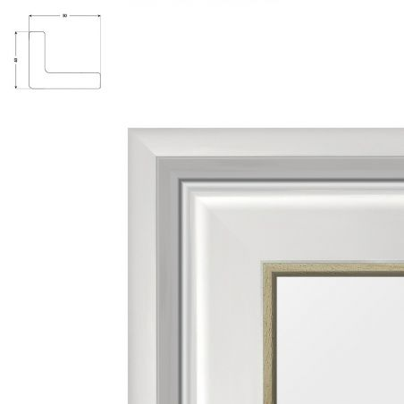 Cadre sur mesure en aluminium noir mat profil 33