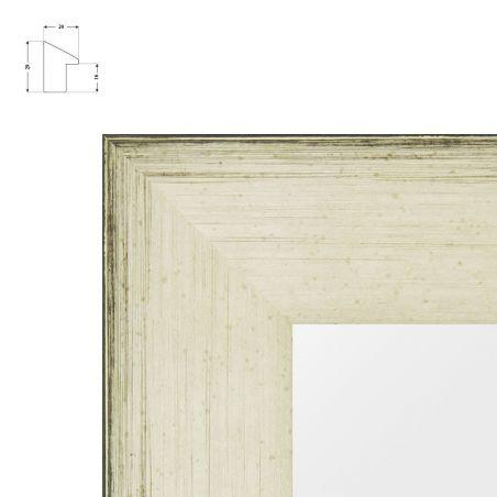 cadre sur mesure en aluminium blanc mat pour châssis