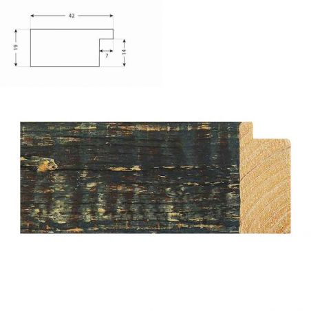 Cadre sur mesure en aluminium noir anodisé profil 51