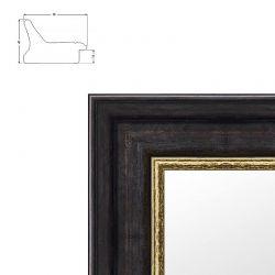 Cadre Tudor noir avec liseré doré