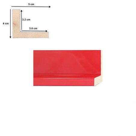 Caisse Américaine laquée rouge