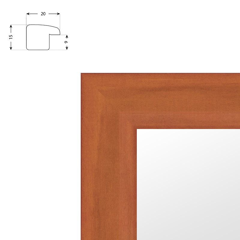 Cadre sur mesure en bois carré noir