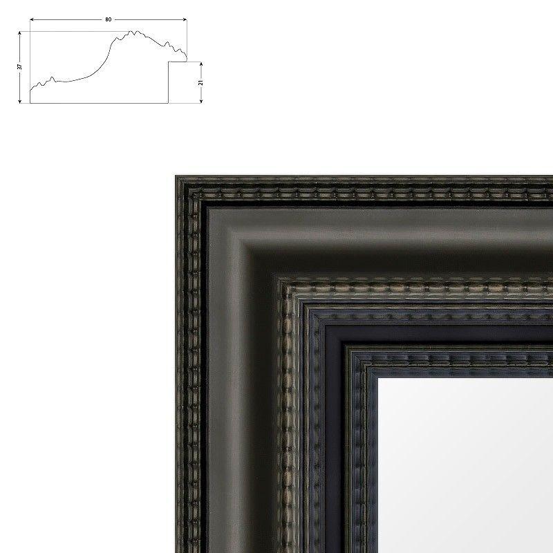 Cadre Vandyke de style Hollandais noir mat