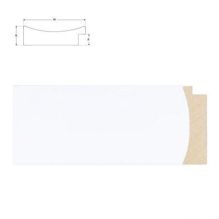 Caisse Américaine blanche avec bord gris