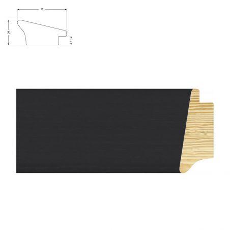 Cadre sur mesure en pin gris mat