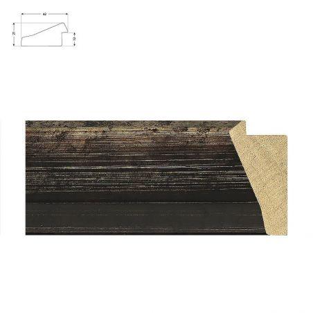 Cadre sur mesure brun avec bords usés