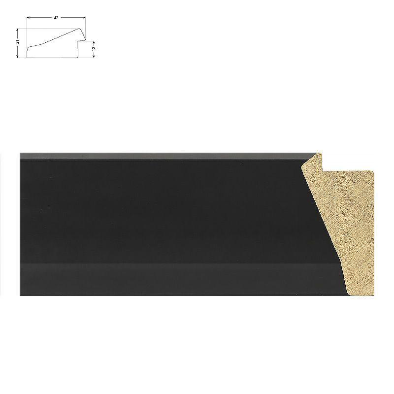 Cadre sur mesure beige avec bords usés