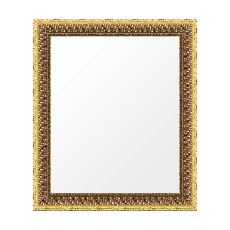 Miroir encadré cannelure doré ou argent vieilli