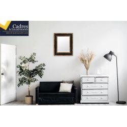 cadre sur mesure en bois carr et laqu effet miroir. Black Bedroom Furniture Sets. Home Design Ideas
