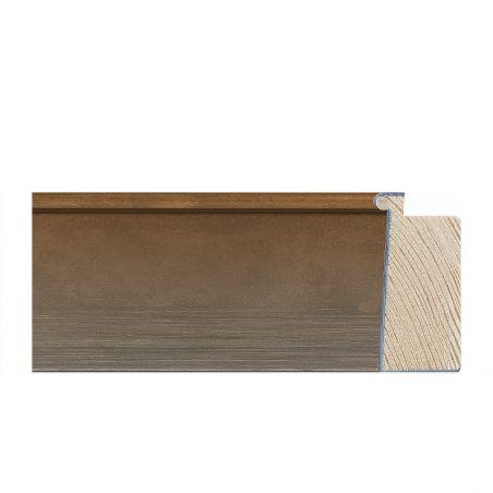 Cadre sur mesure rouge en bois laqué
