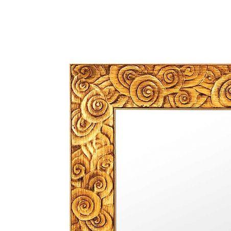 Cadre sur mesure orange en bois laqué