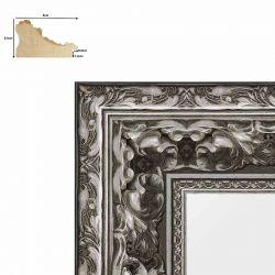 Cadre baroque Charles V argent mat