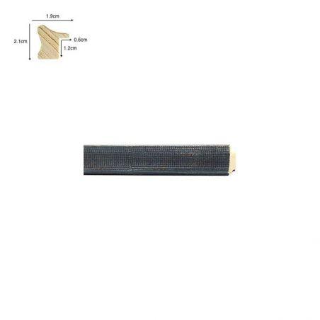 Cadre de style Barbizon doré vieilli ligne noire