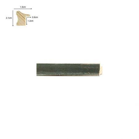 Cadre de style Barbizon doré ligne noire