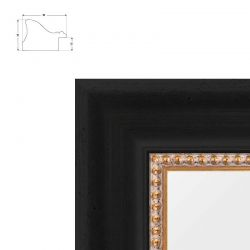 Cadre Tiziana avec rang de perles pour toiles