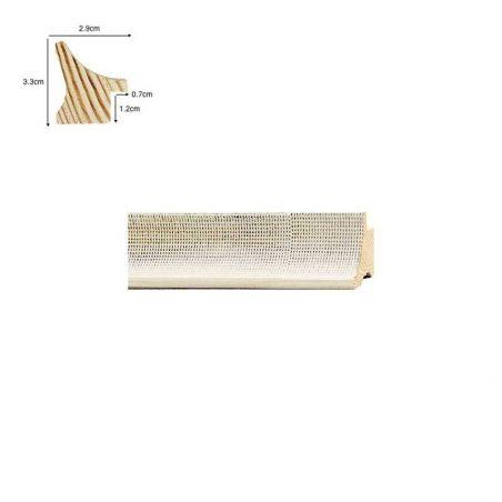 Caisse Américaine en bois naturel bord fin
