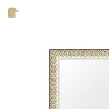 Cadre sur mesure finition cirée noir et or
