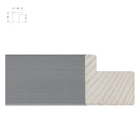 Cadre sur mesure en bois incliné patine métal plomb