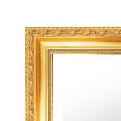 Cadre plat noir avec ligne or