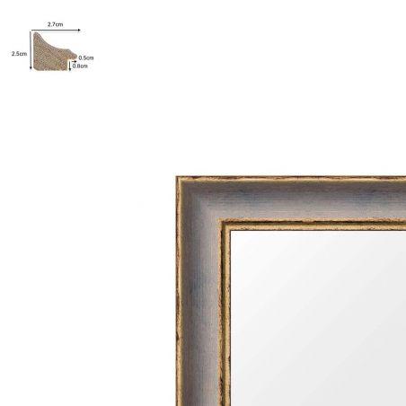 Cadre sur mesure en aluminium noir profil 53