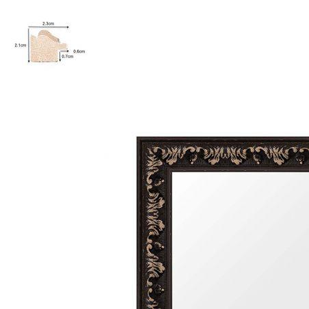 Cadre sur mesure en aluminium noir Profil 272