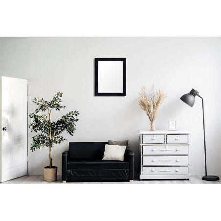 Cadre sur mesure en aluminium noir profil 51