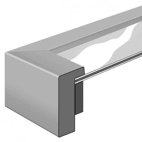 Cadre sur mesure en aluminium noir Profil 04