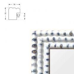 Cadre sur mesure en aluminium argent Profil 11