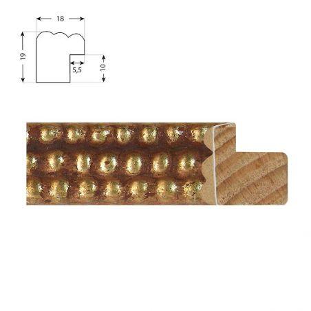 Cadre sur mesure en aluminium or Profil 11