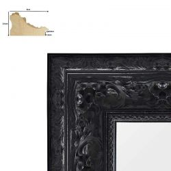 Cadre baroque Charles V noir