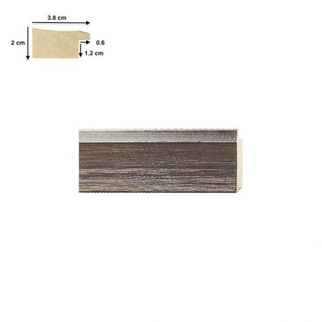 Cadre en bois sur mesure carré bleu mat