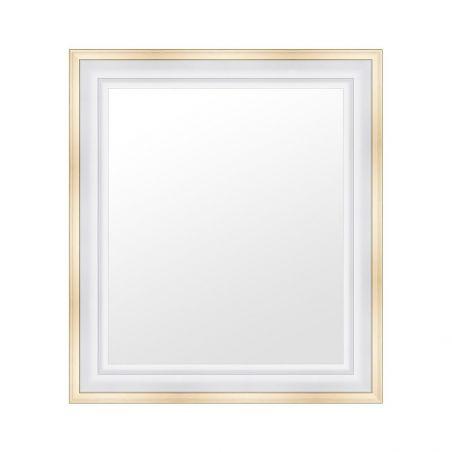Caisse Américaine blanche bords dorés