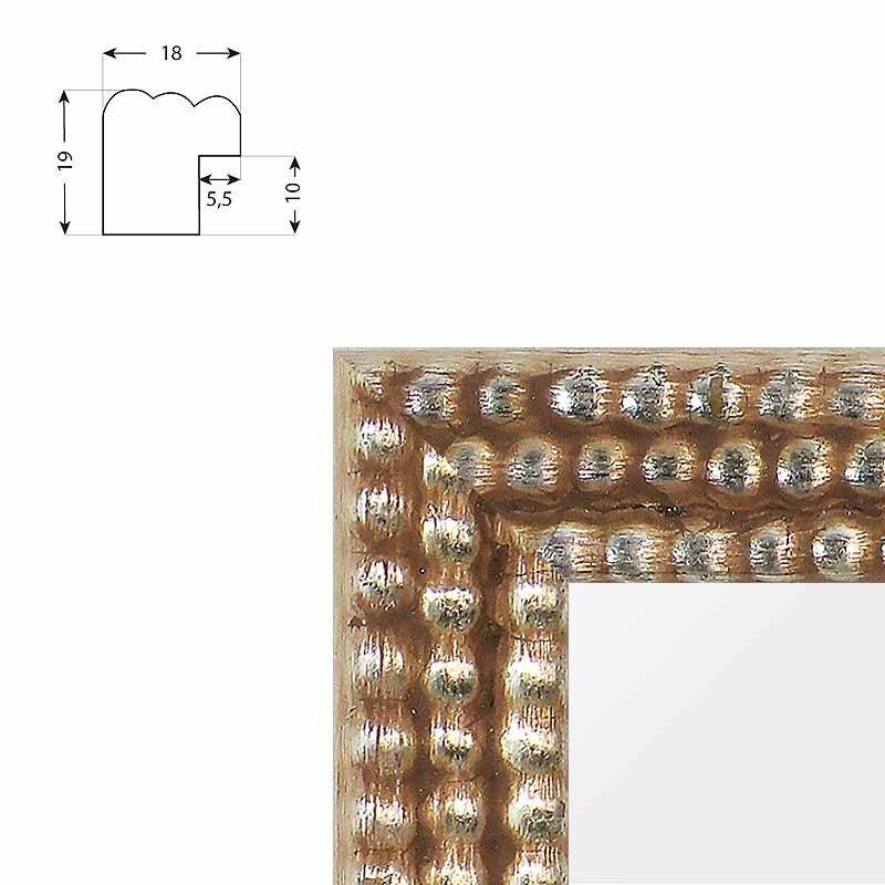 Cadre en aluminium argent ou gris Profil 03