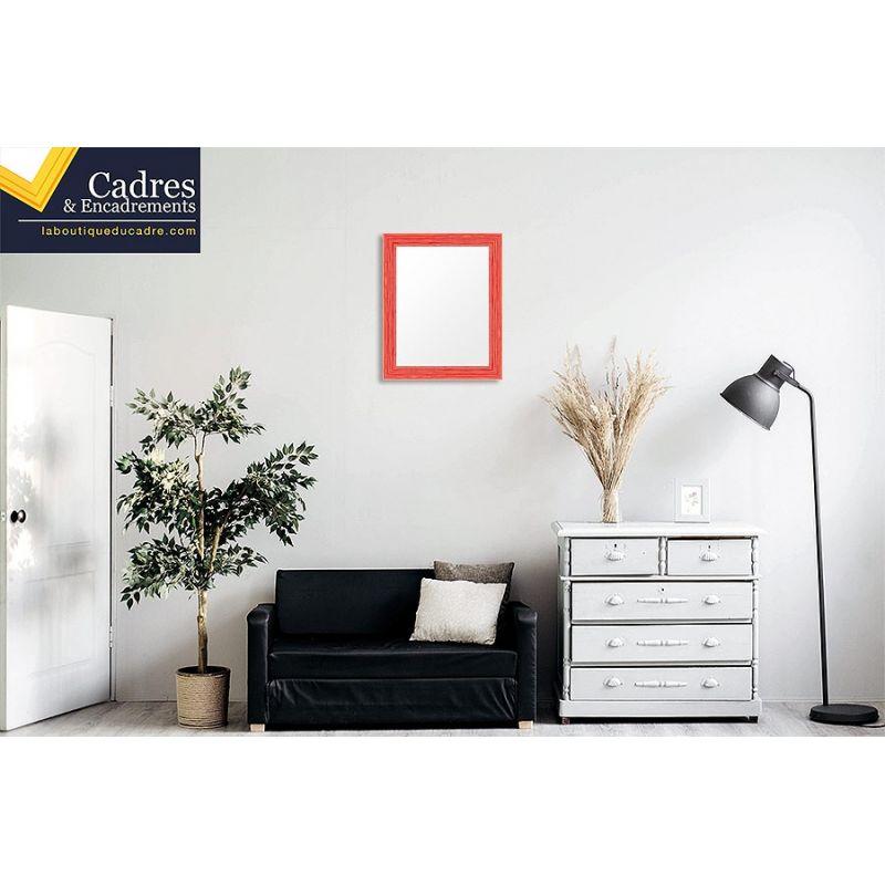 cadre sur mesure en bois laqu effet miroir. Black Bedroom Furniture Sets. Home Design Ideas