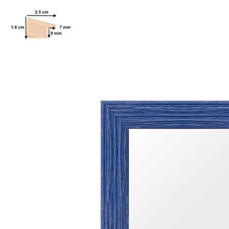 Cadre bleu incliné coloré