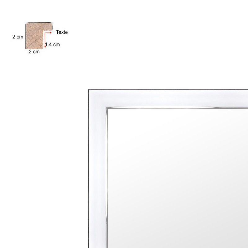 Cadre fin effet miroir