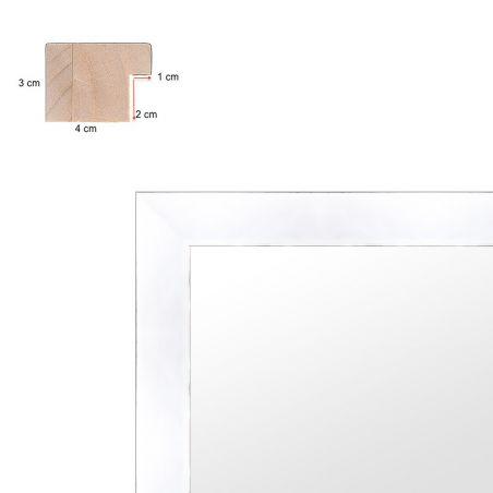 Cadre sur mesure en aluminium coloris bois profil 34 Natura