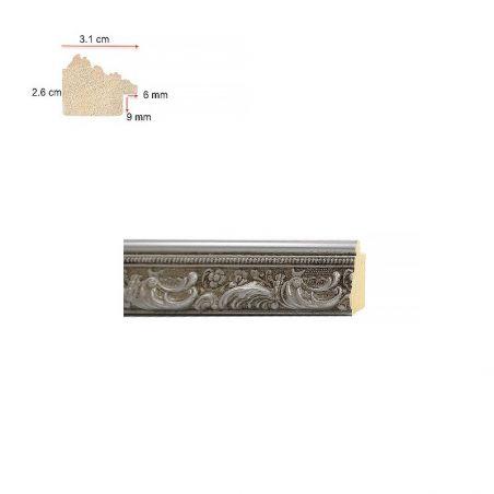 Cadre sur mesure en aluminium argent étain platine profil 15